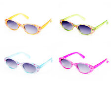 Wholesale 12 Pairs Kids Girls Fashion Flower Sunglasses UV400 #K101-12
