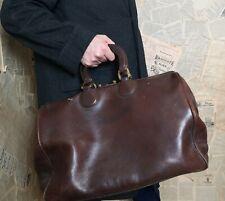 Vintage 1920's gents leather Gladstone bag, large, doctors bag