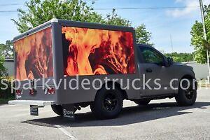 Digital mobile billboard advertising trucks with super bright LED digital video
