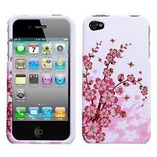 Design Crystal Hard Case for iPhone 4 / 4S - Spring Flower