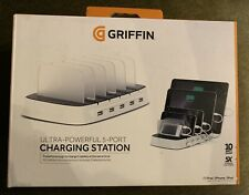 Griffin Ultra-Powerful 5 Port Charging Station. 5 Devices, iPhone, iPad Etc.New.