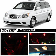 15x Red Interior LED Light Package Kit for 2005-2010 Honda Odyssey