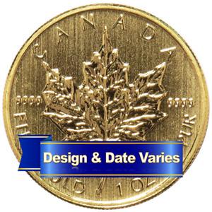 $50 Gold Canadian Maple Leaf  .9999 1 oz Random Year Brilliant Uncirculated