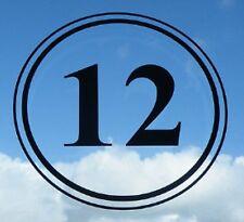 "SET OF 2 200mm 8"" Vinyl House Numbers Decal Bin Sticker Window Numbers Letters"
