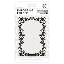 Docrafts Xcut A6 embossing folder 15x10cm Leafy Border X cut