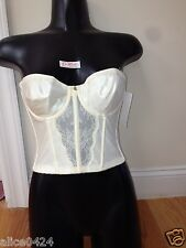 Lady Marlene Strapless Backless Long line Bra Seamless 242 Sizes 32C Ivory