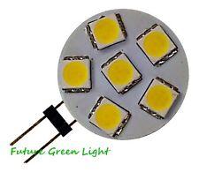 G4 6 SMD LED 12V (10-30V DC / 12-18V AC) 1.2W 60LM WHITE BULB ~10W