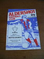 Aldershot v Notts County League Cup 4-10-1983