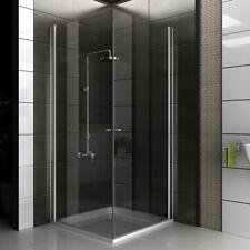 ALPENBERGER Duschkabine Eckeinstieg Dusche Duschwand Duschabtrennung 90x90 Glas