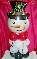 CHRISTMAS SNOWMAN BALLOON TABLE DISPLAY XMAS PARTY DECOR - AIR FILL ONLY
