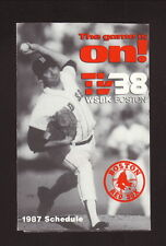 Bruce Hurst--1987 Boston Red Sox Schedule--WSBK/Kendall Motor Oil