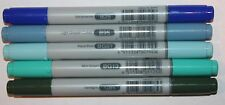5 Copic CIAO Markers -BLUE GREEN Set