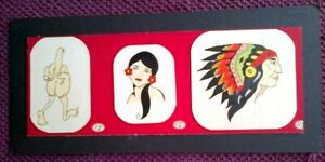RARE VINTAGE ORIGINAL Hand painted 1960s TATTOO FLASH - RARE, UNUSUAL STYLE