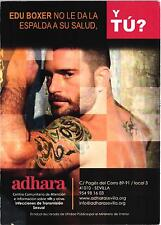 EDU BOXER GAY MAN WITH TATTOO ADVERTISING ANTI AIDS CARD SPAIN