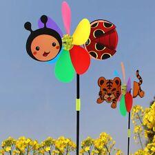 Colorful Cartoon Animal Tiger Bee Windmill Wind Spinner Home Garden Yard Decor