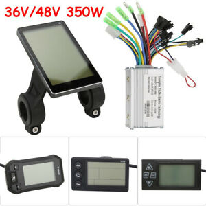 36V/48V 350W Electric Bicycle E-bike Scooter DC Motor Speed Controller+LCD Panel