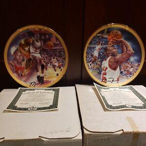 """Michael Jordan """"1991 Championship""""  2 Collectors Plate Upper Deck"""