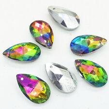 Hot Faceted Teardrop CRYSTAL glass loose beads DIY 16mm 22mm 28mm DIY 23 Color
