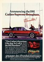 1981 Oldsmobile Cutlass Supreme Original Advertisement Print Art Car Ad H30