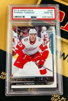 2018 Upper Deck Young Guns #486 Dominic Turgeon RC Rookie PSA 10 Gem Red Wings