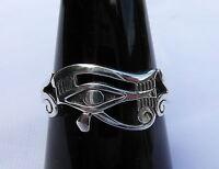 Sterling  Silver  (925)   Eye  Of  Horus  Ring   !!         Brand  New  !!