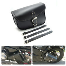 PU leather Motorcycle Saddle Bag Swingarm Bag for Harley Sportster Yamaha Black