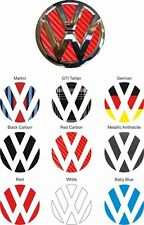 VW Polo MK6 Golf R GTi  Mk4 Mk5 MK6 vinyl Badge overlay Decals Stickers X2!