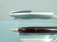 "Vintage Sheaffer Triumph 440 Burgundy/Steel Cartridge Fountain Pen, CT ""Ex Cond"""