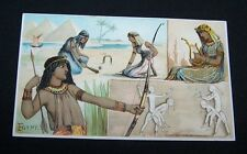1893 TRADE CARD-#45 ARBUCKLE COFFEE-EGYPT-SPORTS PASTIME SERIES-GAMES