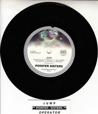 """POINTER SISTERS  Jump (For My Love)  7"""" 45 rpm record + juke box title strip"""