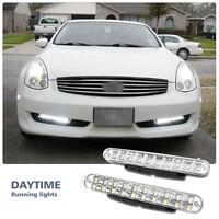 2X 12V 8 LED Daytime Running Lights DRL Car Fog Lamp Day Driving Universal White
