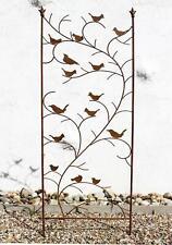 Rankhilfe mit Vögel 120705 Rankgitter aus Metall H-150 cm B-50 cm Kletterhilfe