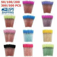 50~500PC Crystal Eyelash Brush Eyebrow Wands Applicator Makeup Applicator US