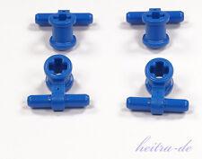 LEGO Technik - 4 Pneumatik Verbinder mit Achshalterung blau / 99021 NEUWARE