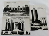 1933 Worlds Fair 3 Postcards A Century of Progress PC Carillon Tower, Science