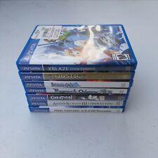 Lot Of 8 Playstation PS vita games XBlaze, Final Fantasy, Conception, Ragnarok +
