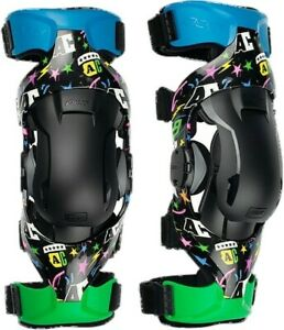 POD K4 AC9 Limited Edition Motocross Enduro Race OffRoad Knee Braces Pair Adults