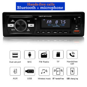 12V Bluetooth USB/FM/WMA/WAV Radio Audio Stereo MP3 Player Hands-free Call Kit