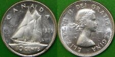 1959 Canada Silver Dime Graded as Brilliant Uncirculated From Original Roll