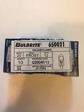 10 Pack Bulbrite Q20G4F/12 20w/12v G4 base FROST 650021
