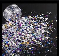 CONFETTI Nail Art GLITTER MIX STARS STRIPS DOTS Acrylic Gel Nail Polish Crafts