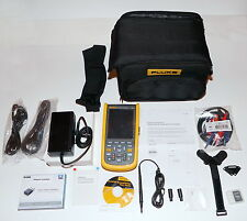 FLUKE 123B/S DUAL INPUT INDUSTRIAL SCOPEMETER HANDHELD OSCILLOSCOPE KIT NEW