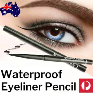 🔥 Waterproof EYELINER Retractable PENCIL Twist Makeup BLACK Eye Liner Twister