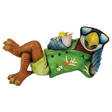 The Island Life Tropical Parrot Relaxin Vacation Visions Vibrant Bird Sculpture