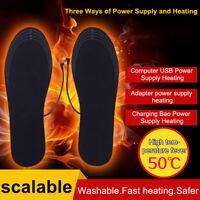 UK_ EE_ USB ELECTRIC HEATED SHOE INSOLE WARM SOCK FEET HEATER FOOT WINTER WARMER