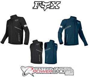 2019 Fox Racing Mens Legion Softshell Navy / Black DirtBike Jacket DualSport ATV