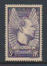 More details for france - 1938, 3f violet-grey mermoz stamp - m/m - sg 571a