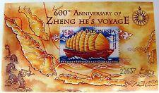 INDONESIA SHIP STAMPS SHEET ZHENG-HE VOYAGE 600TH ANV. SOUVENIR SHEET 2005 MNH