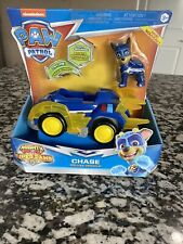 Paw Patrol Mighty Pups Super Paws CHASE DELUXE VEHICLE, New - Ships Free