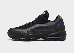 New Nike Air Max 95 Black Grey Royal Blue Men's Size 8.5-13 Sneakers DM9104-001